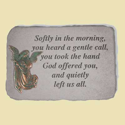 Softly in the morning… Remembrance Garden Stone