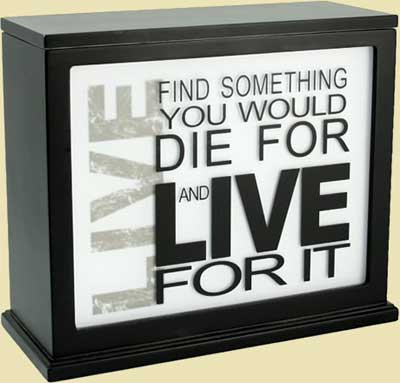 Inspirational Accent Lamp & Light Box (BLACK)