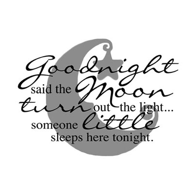Light Box Insert  – Goodnight said the moon…