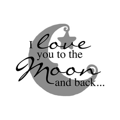 Light Box Insert  – I love you to the moon…