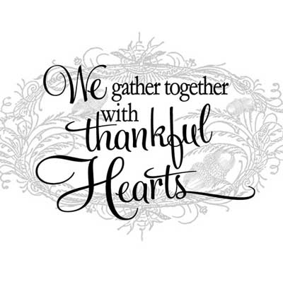 Light Box Insert  - Thankful Hearts