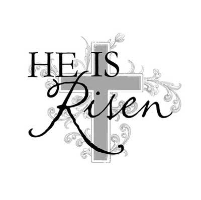 Light Box Insert  – He is Risen