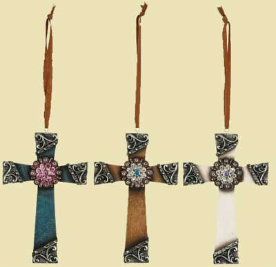 Cross Ornaments - Set of 3