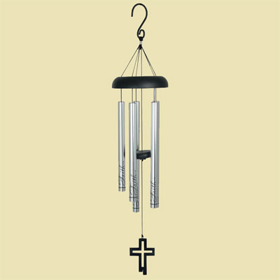 "30″"" Faith Cross Fish Wind Chime – Eyevolver"