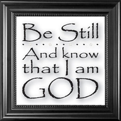 Be still and know… Framed Glass Decor
