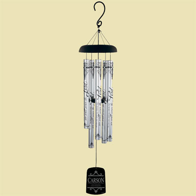 """40″"""" Serve the Lord Monogram Signature Series Wind Chime"""