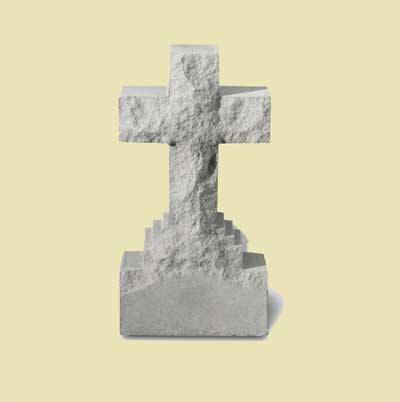 "15″"" Cross Statue on Base"