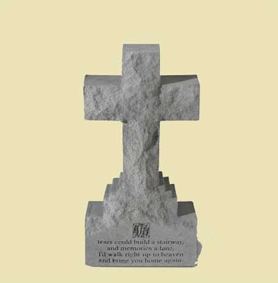 "If Tears Could Build… 15″"" Cross Statue on Base"