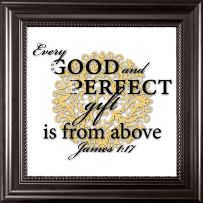 Every Good and Perfect Gift… Framed Glass Decor
