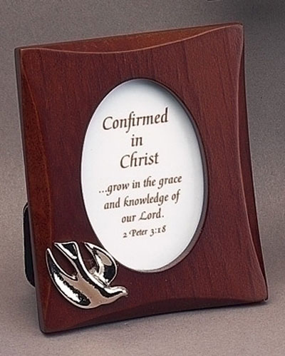 "3.5″"" Dark Wood Confirmation Photo Frame"