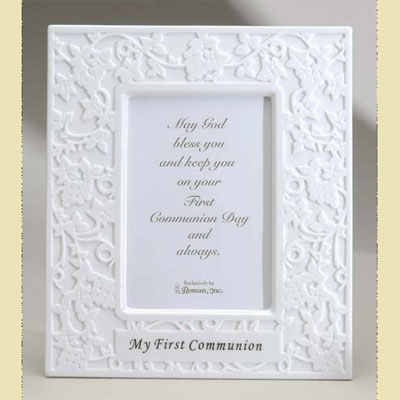 1st Holy Communion Lace Illusions Photo Frame