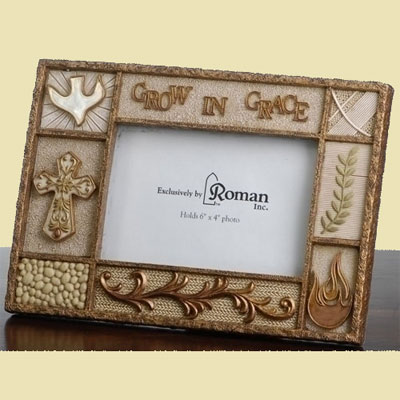 Confirmation 'Grow in Grace' Horizontal Photo Frame