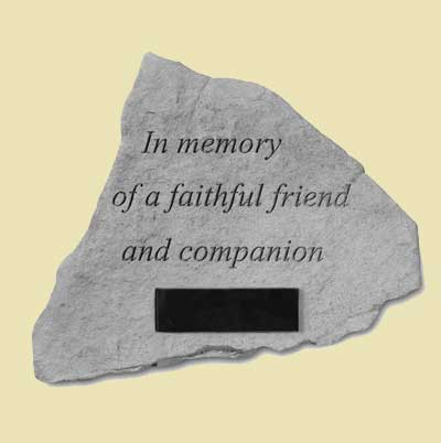 In memory… Loss of pet Garden Memorial Stone