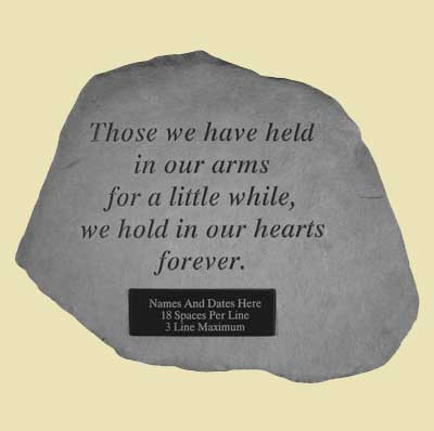 Those we have held… Personalized Garden Stone