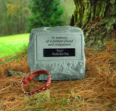 In memory of a faithful friend... Personalized Headstone with Urn