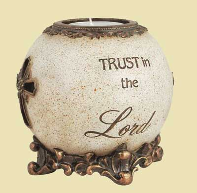 Trust in the Lord Tealight Orb