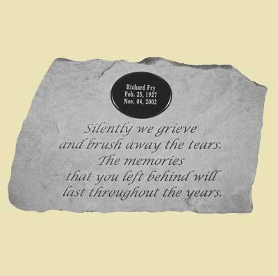 Silently we grieve… Personalized Memorial Stone