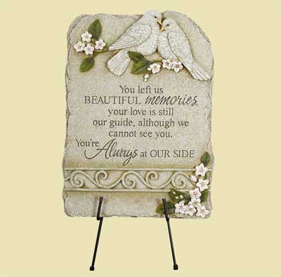 You left us… Memorial Garden Stone Marker