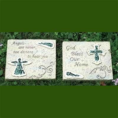 Mosaic Garden Plaques - Set of Two
