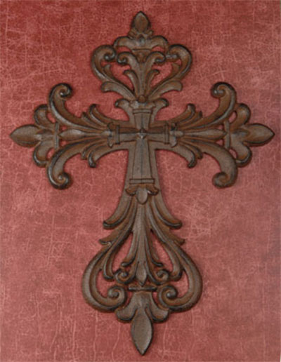 "Cast Iron 14″"" Wall Cross"