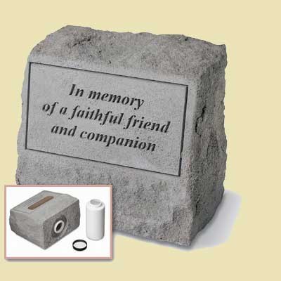 In memory of a faithful friend… Headstone with Urn