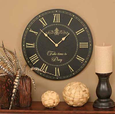 "Take Time – 17″"" Wall Clock"