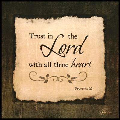 Trust - Proverbs 3:5 Wooden Wall Plaque