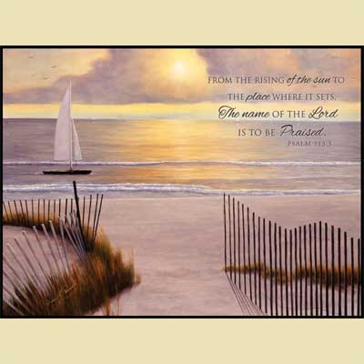 When the Sun Goes Down – Christian Wall Art