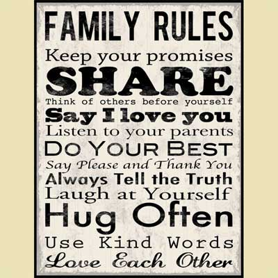 Family Rules – Christian Wall Art