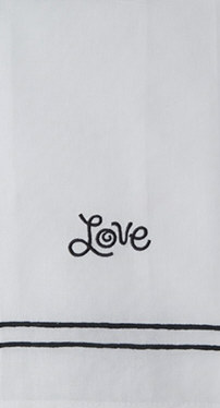 'Love' Guest Towel