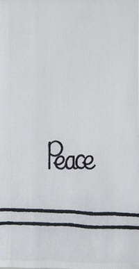 'Peace' Guest Towel