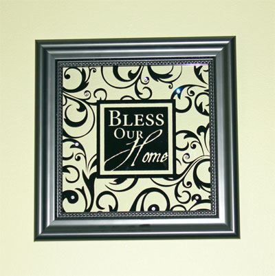 Bless our home framed glass decor christian for Home interiors and gifts framed art