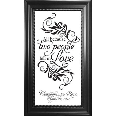 Personalized Wedding Plaque on Glass