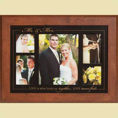 Mr & Mrs Photo Frame with Scripture
