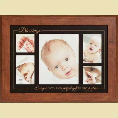 Baby Blessings Photo Frame with Scripture