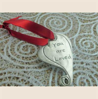 You are Loved Pewter Ornament