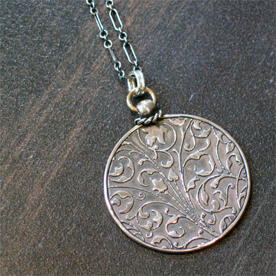 Sterling Silver Scripture Medallion – Psalm 27.1