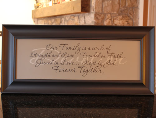 Devotion Our Family Framed Christian Art