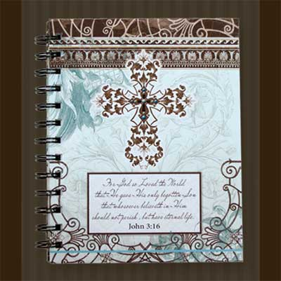 Blue and Brown Cross Journal