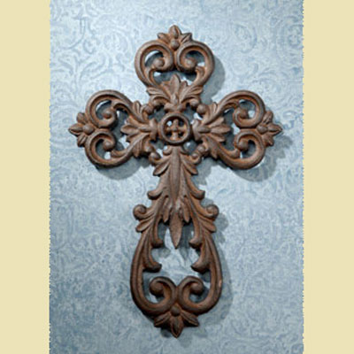 "Cast Iron 10″"" Wall Cross"