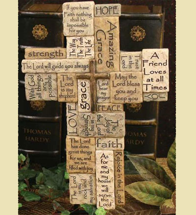 Cross with Scripture