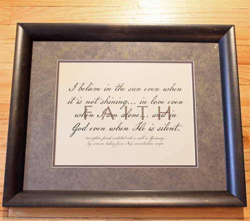 framed christian art faith matted framed christian art