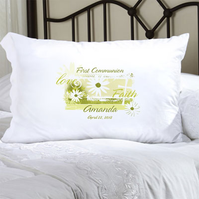 Personalized Special Occasion Pillow Case with Daisy