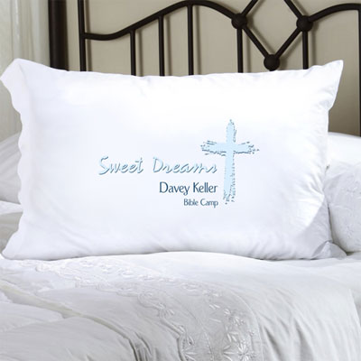 Personalized Pillow Case in Blue