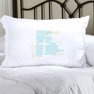 Personalized Pillow Case with Faith & Love