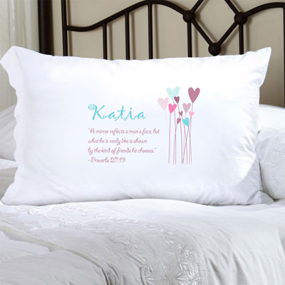 Personalized Pillow Case with a Proverb