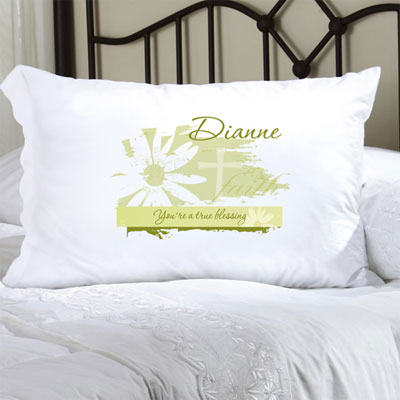 Personalized Pillow Case with Divine Daisy