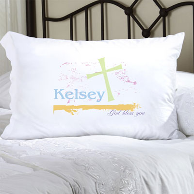 Personalized Pillow Case with Pastel Grace