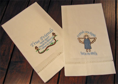 'Angel Friends' Guest Towels – Set of Two