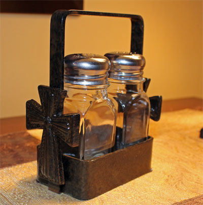 Wrought Iron Ladner Salt & Pepper Shaker Set